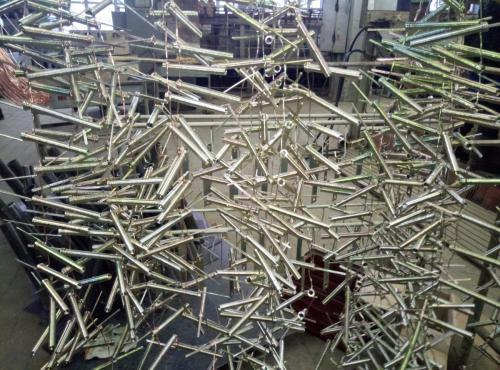 Нанесение цинка на пружинки